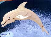 Large Woodcraft Dolphin Puzzle