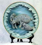 3-D Trio Manatees Collectible