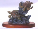 Duo Sea Turtle Figurine FREE SHIPPING!