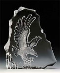 Eagle Leaded Crystal Sculpture