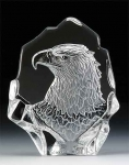Majestic Eagle Leaded Crystal Sculpture