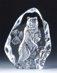 Wild Bear Leaded Crystal Sculpture