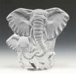 Mother & Baby Elephant Leaded Crystal Sculpture