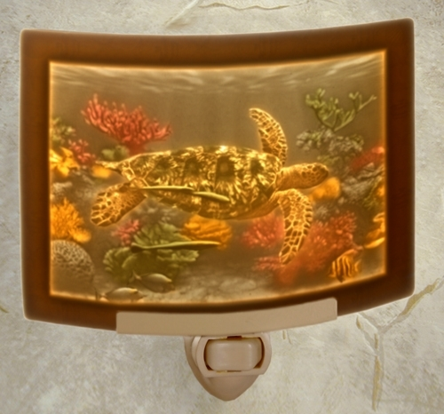 Sea Turtle Colored Night Light