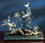 Fine Art Dolphin Sea Treasures Sculpture