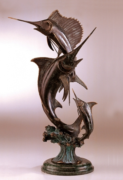 Grand Slam Marlin & Sailfish Statue