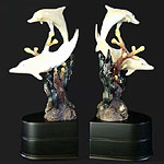 Imperial Dolphin Bookends