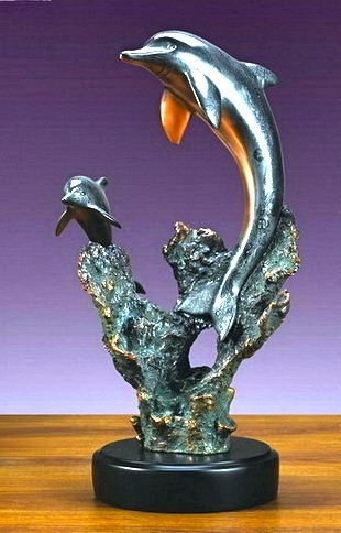 Duo Dolphins Sculpture