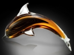 Art Glass Cresting Dolphin