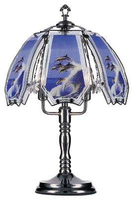"""Out of Blue"" Large Dolphin Touch Lamp"