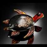 Art Glass Diving Sea Turtle