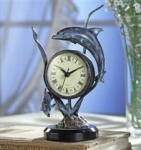 Duo Dolphins Table Clock