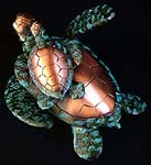 Mother & Baby Sea Turtle Sculpture