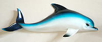 28 Inch Blue Dolphin Wall Sculpture