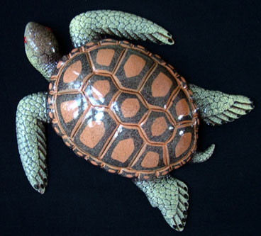"8"" Sea Turtle Wall Statue #B"