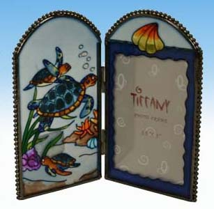 Stained Glass Sea Turtle Photo Frame