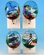 Stained Glass Nautical Nightlights - Set of 4