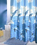 Dancing Dolphin Shower Curtain